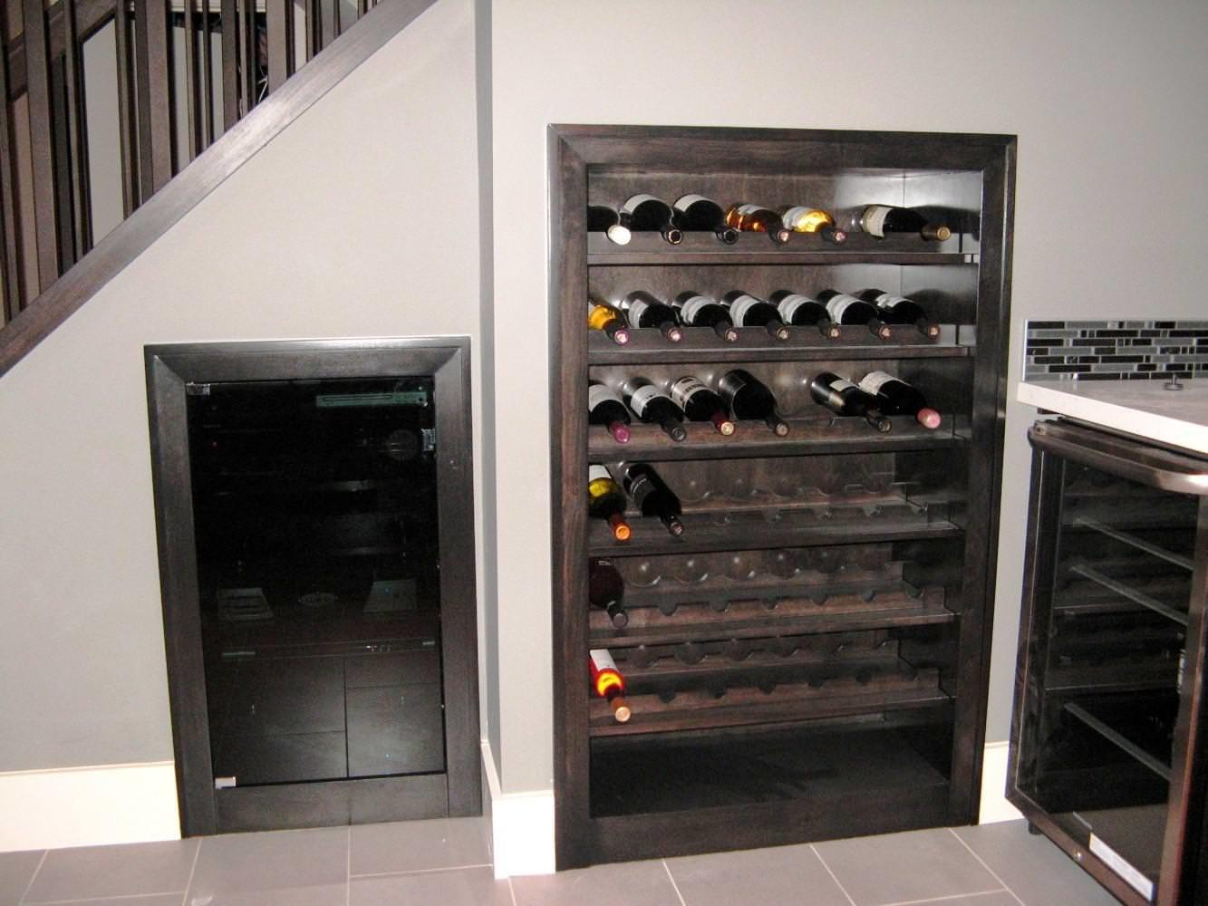 Build Wine Rack Under Stairs