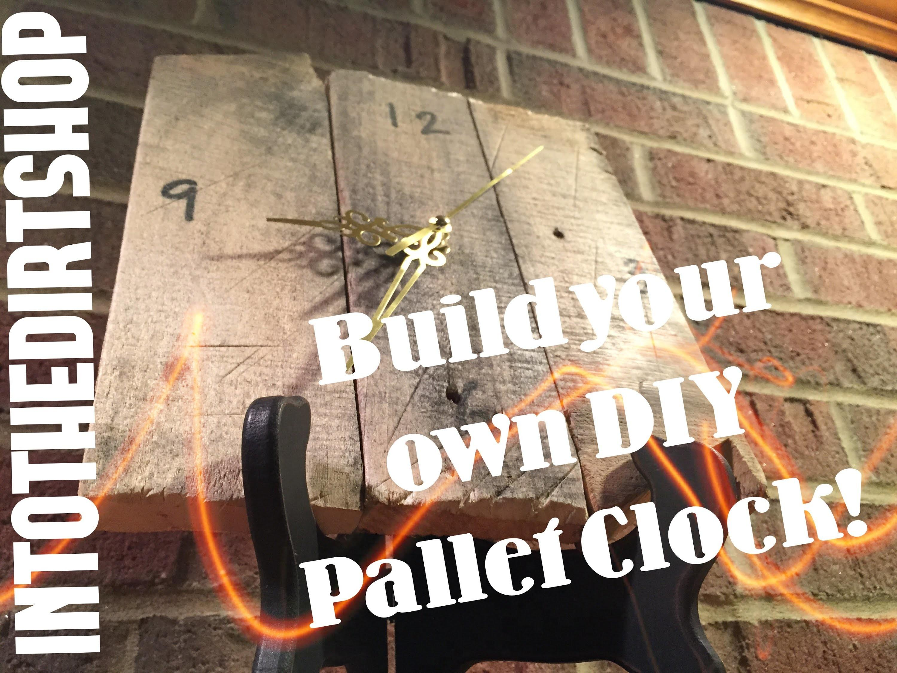 Build Your Own Diy Rustic Pallet Clock
