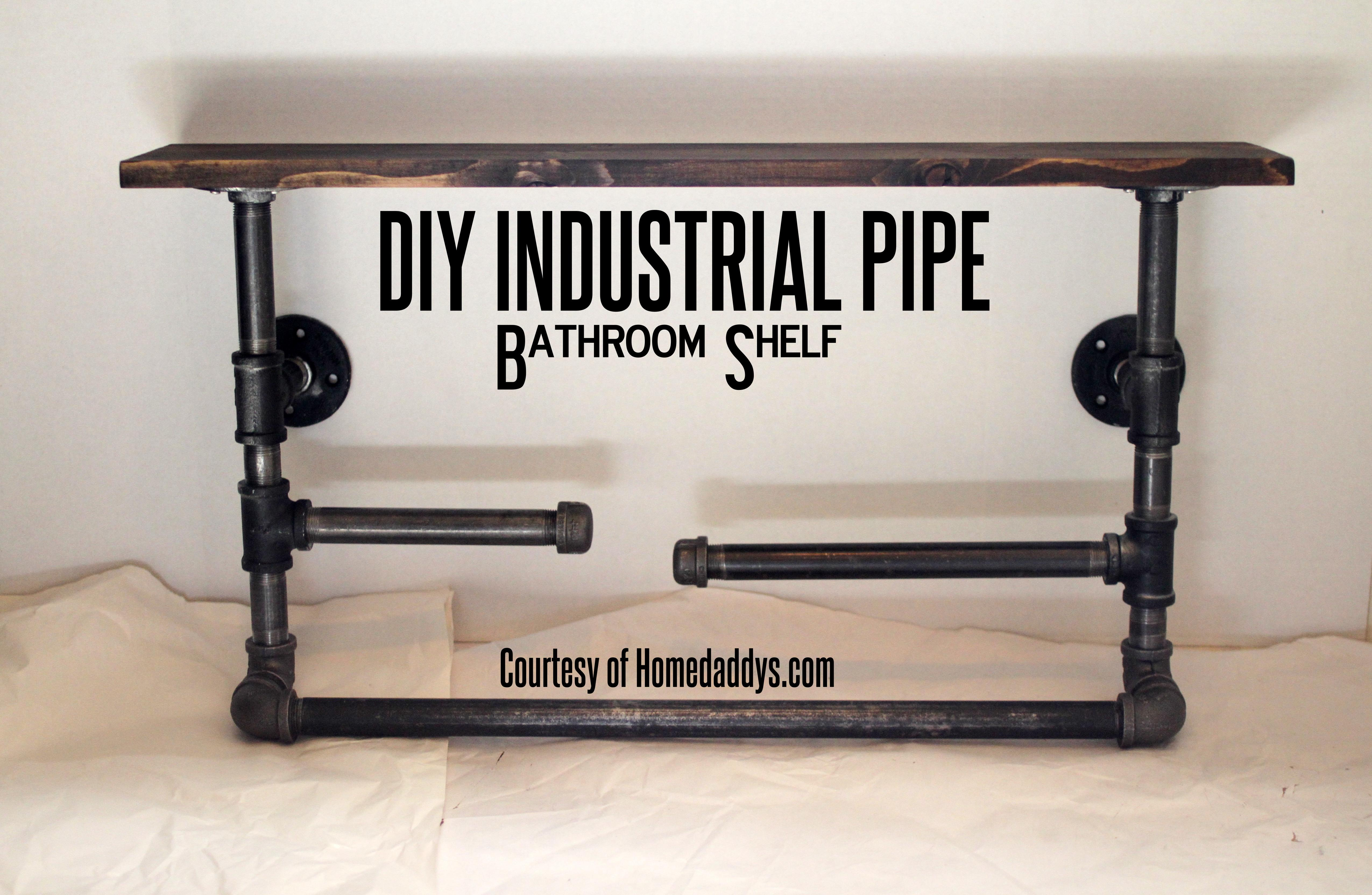 Build Your Own Industrial Pipe Shelf Homedaddys