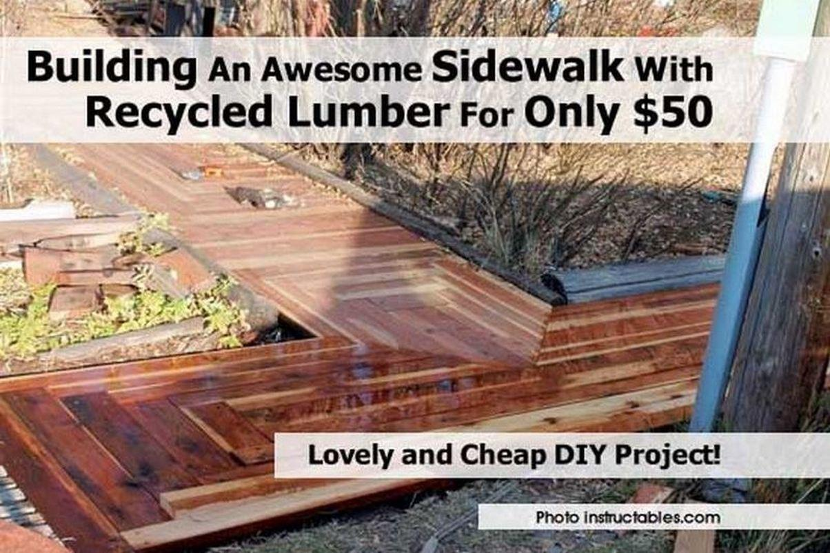 Building Awesome Sidewalk Recycled Lumber Only