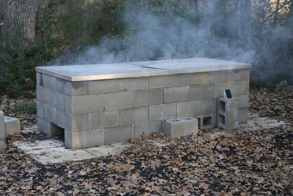 Building Brick Smoker Bbq Pit Fire Design Ideas