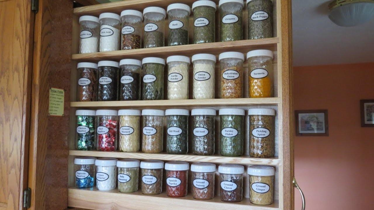 Building Hidden Pull Out Spice Rack Organize