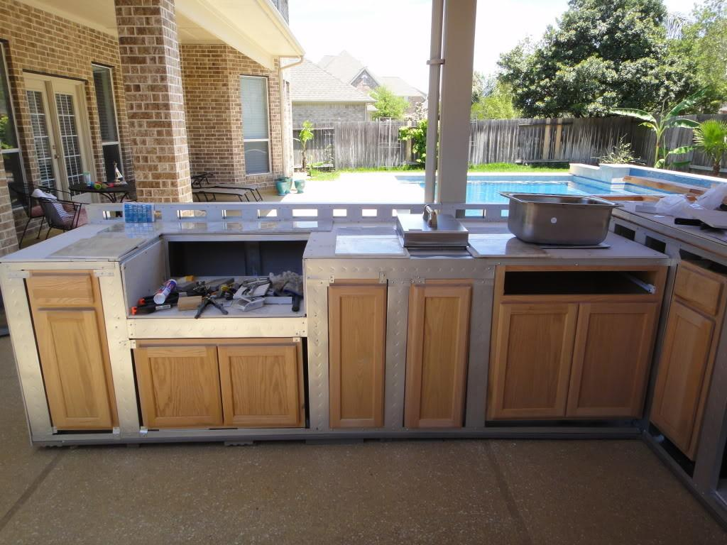 Building Outdoor Kitchen Cabinets Decor Design Ideas