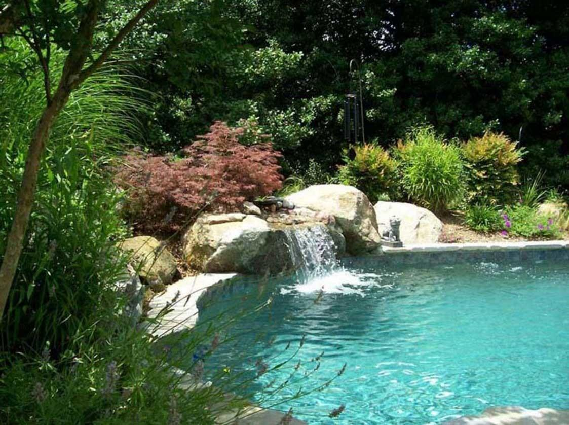 Building Your Own Natural Swimming Pool Waterfall