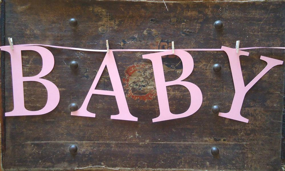 Bunting Letters Banner Garland Baby Shabby Vintage Retro