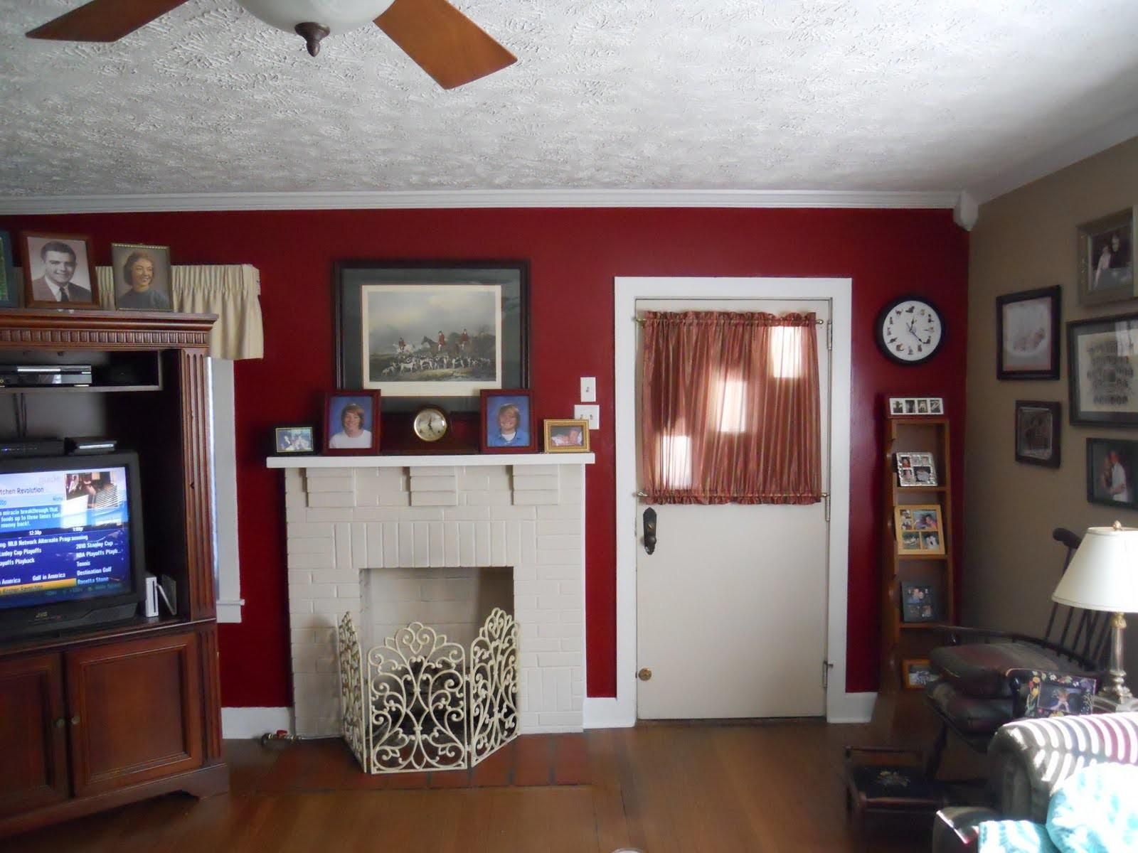 Burgundy Accent Wall