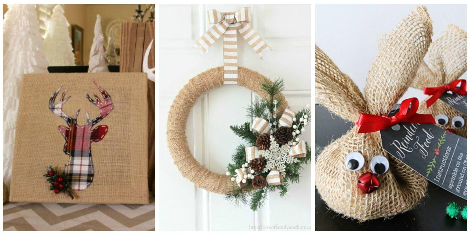 Burlap Christmas Decorations Rustic Decor