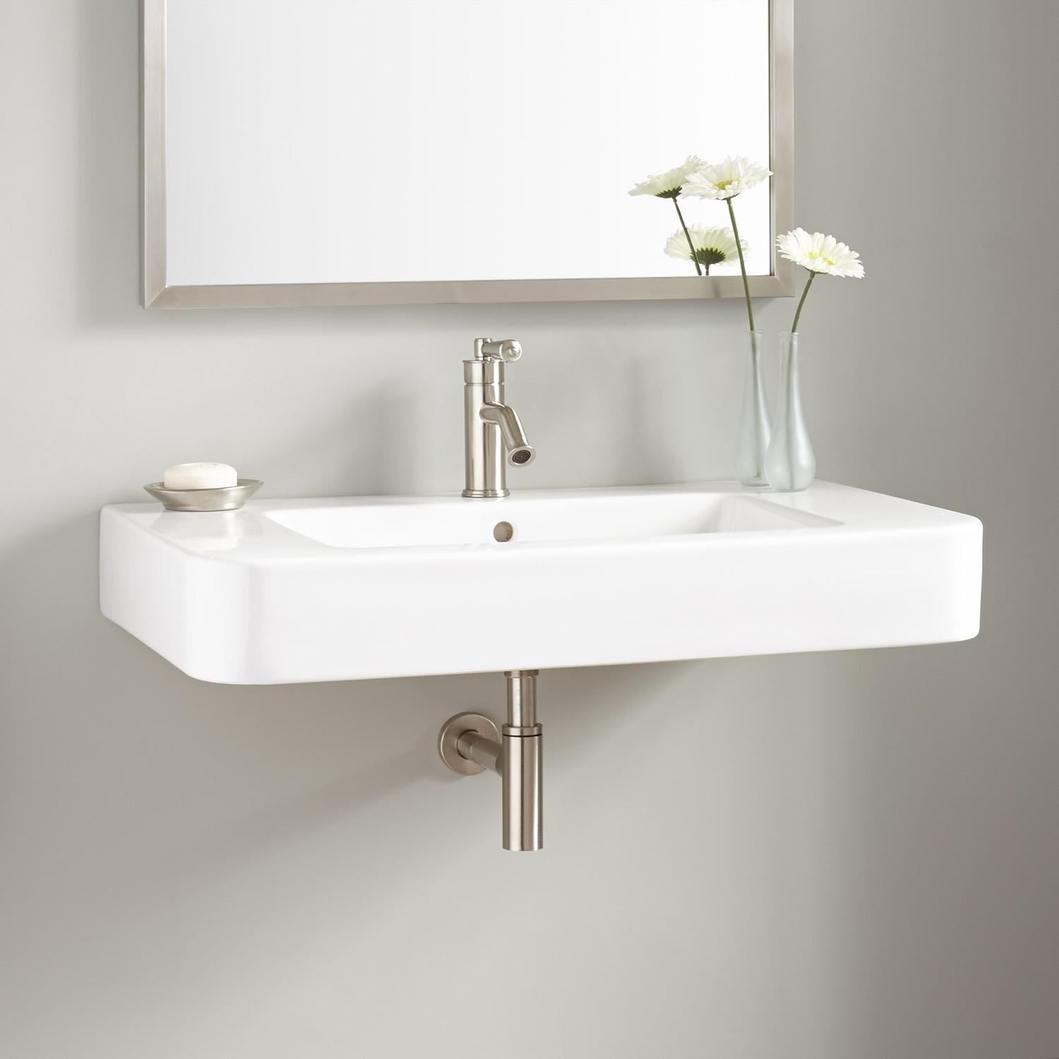 Burleson Porcelain Wall Mount Sink Sinks