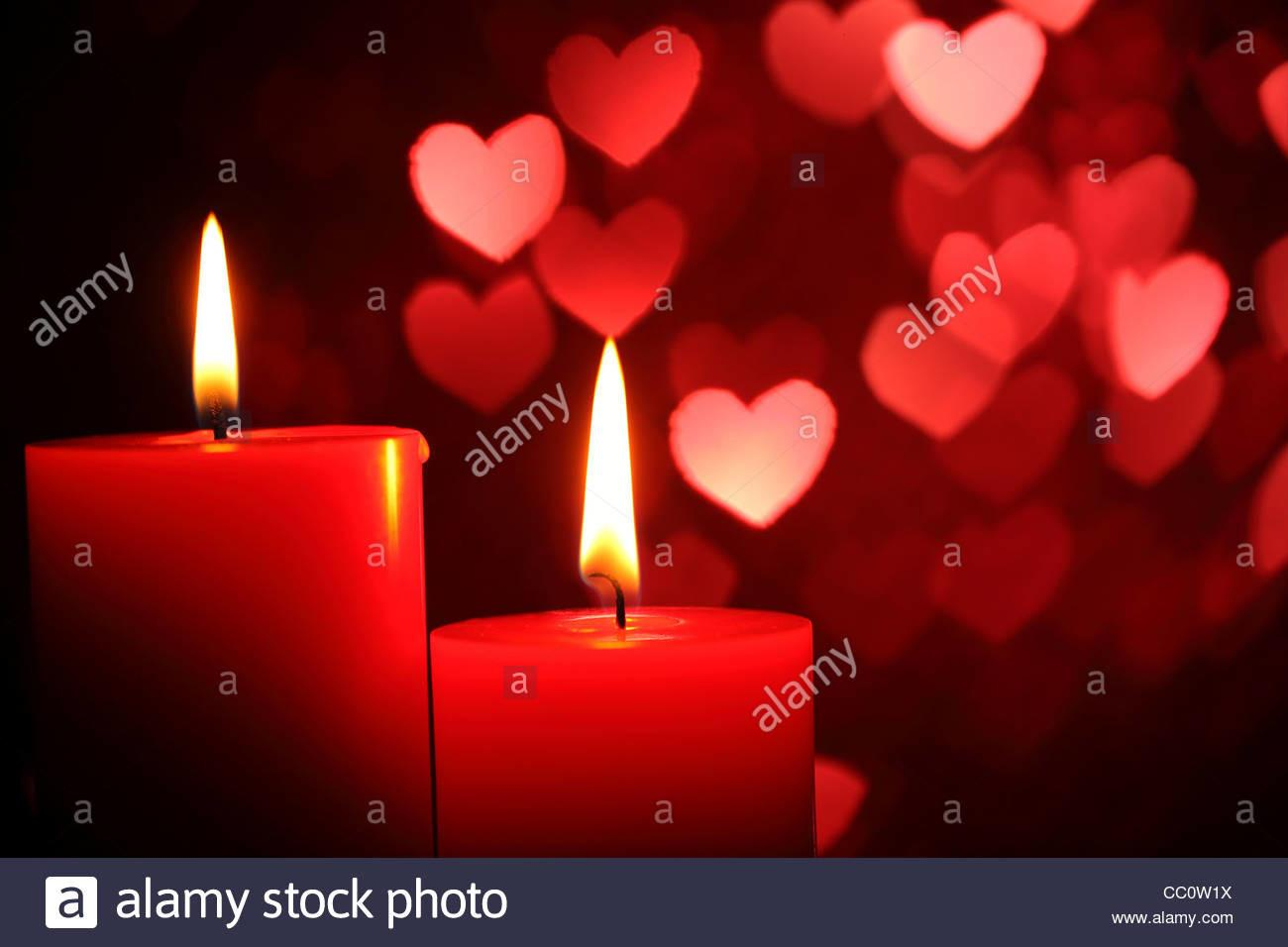 Burning Candles Valentine Day Weddings Events
