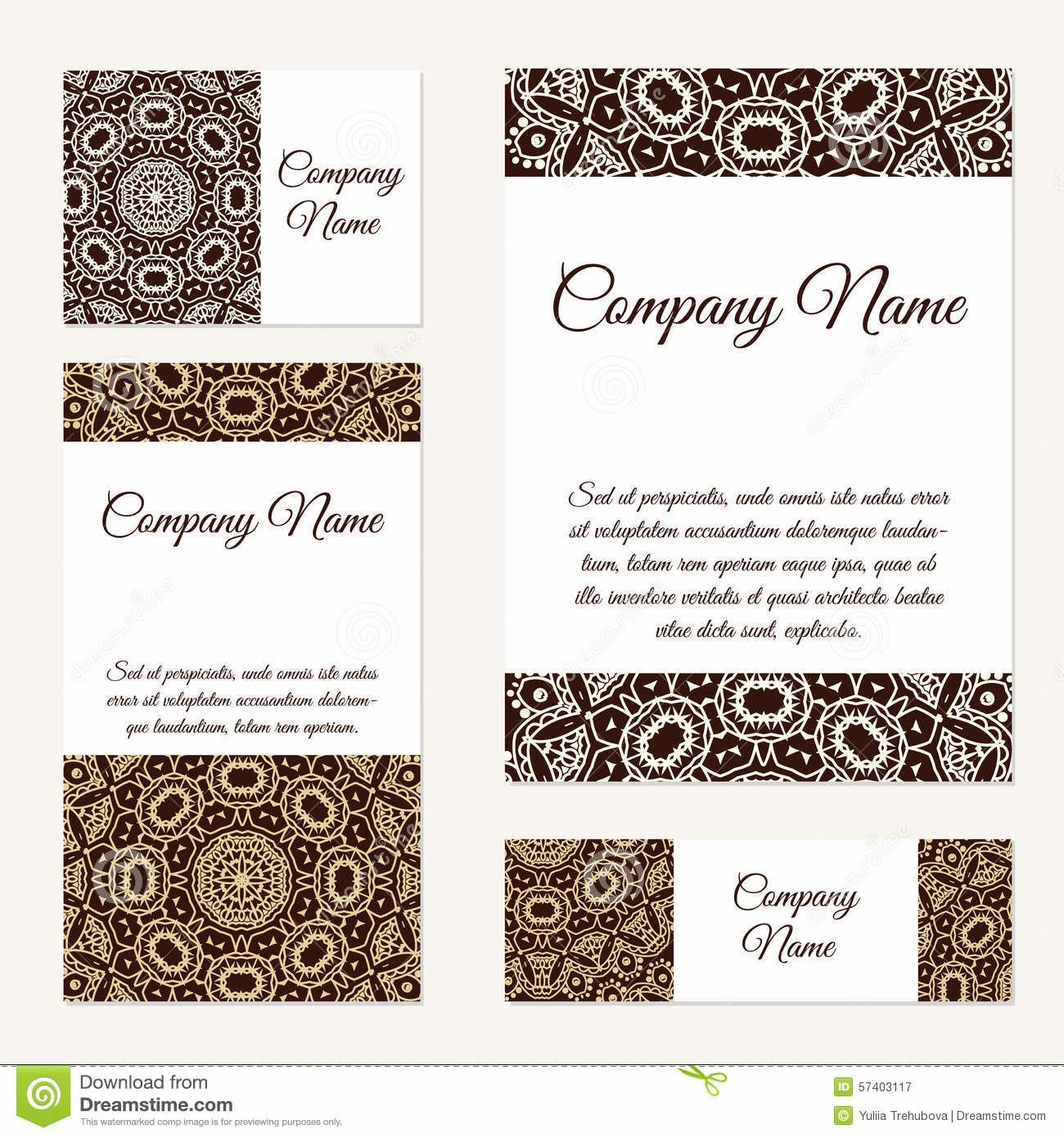 Business Cards Collection Ornament Your Design