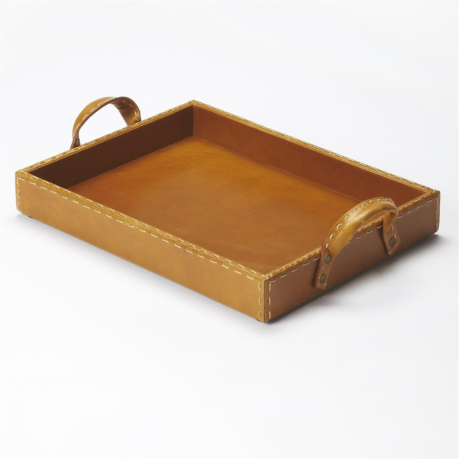 Butler Hors Oeuvres Leather Serving Tray