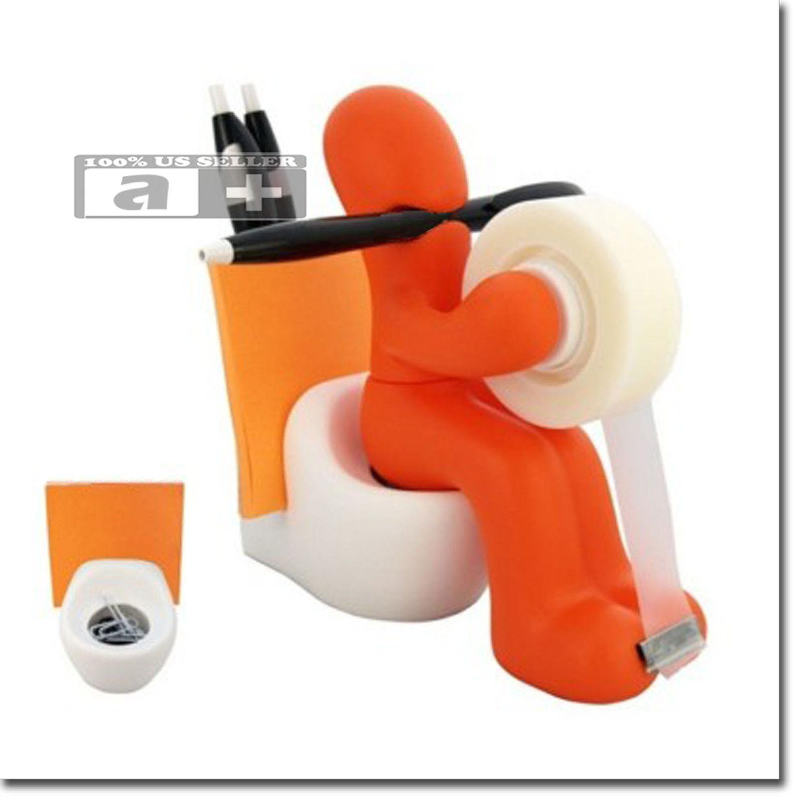 Butt Station Office Desk Organizer Tape Dispenser Pen Memo
