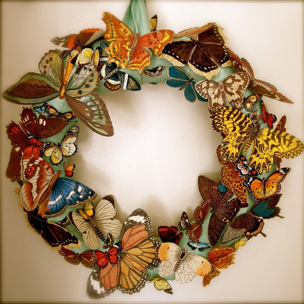 Butterfly Carnival Wreath Thechicadeeshop Etsy