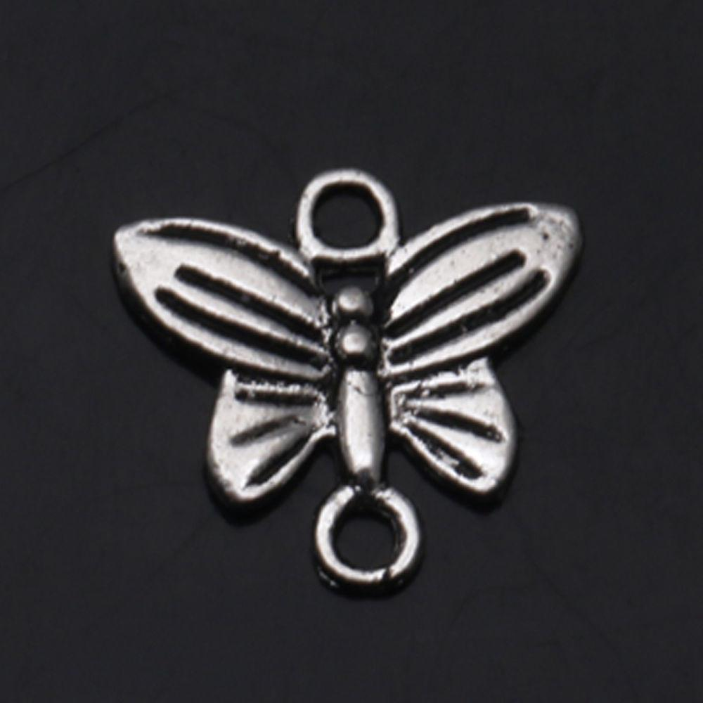 Butterfly Connectors Tibet Silver Crafts Jewelry Finding