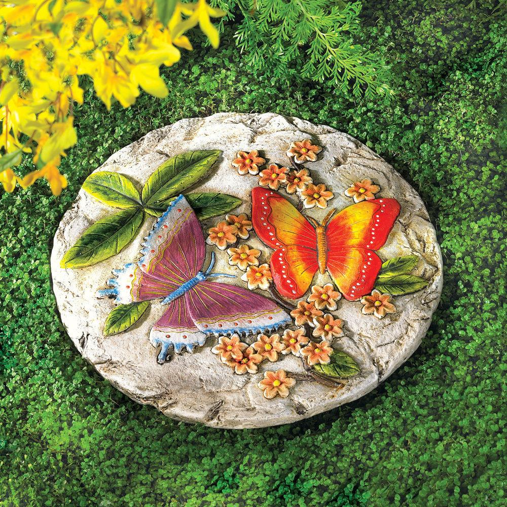Butterfly Garden Cement Stepping Stone Patio Ideas
