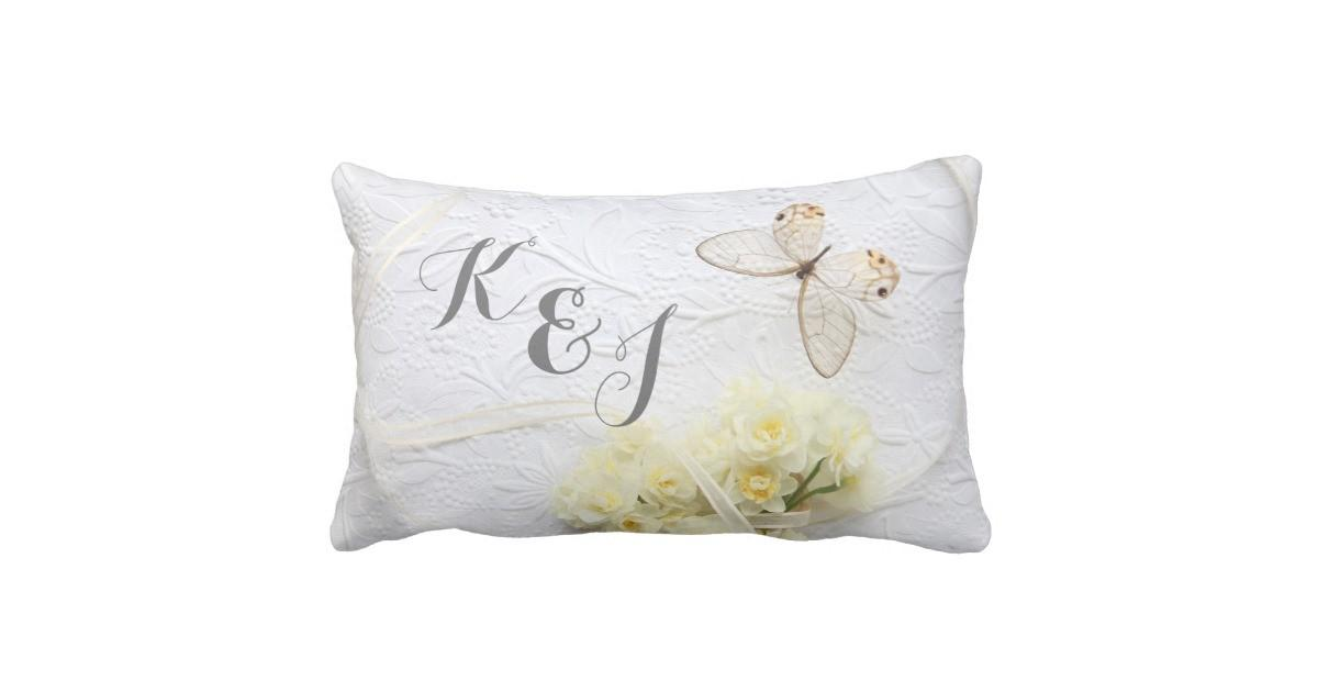 Butterfly Spring Flowers Wedding Throw Pillow Zazzle