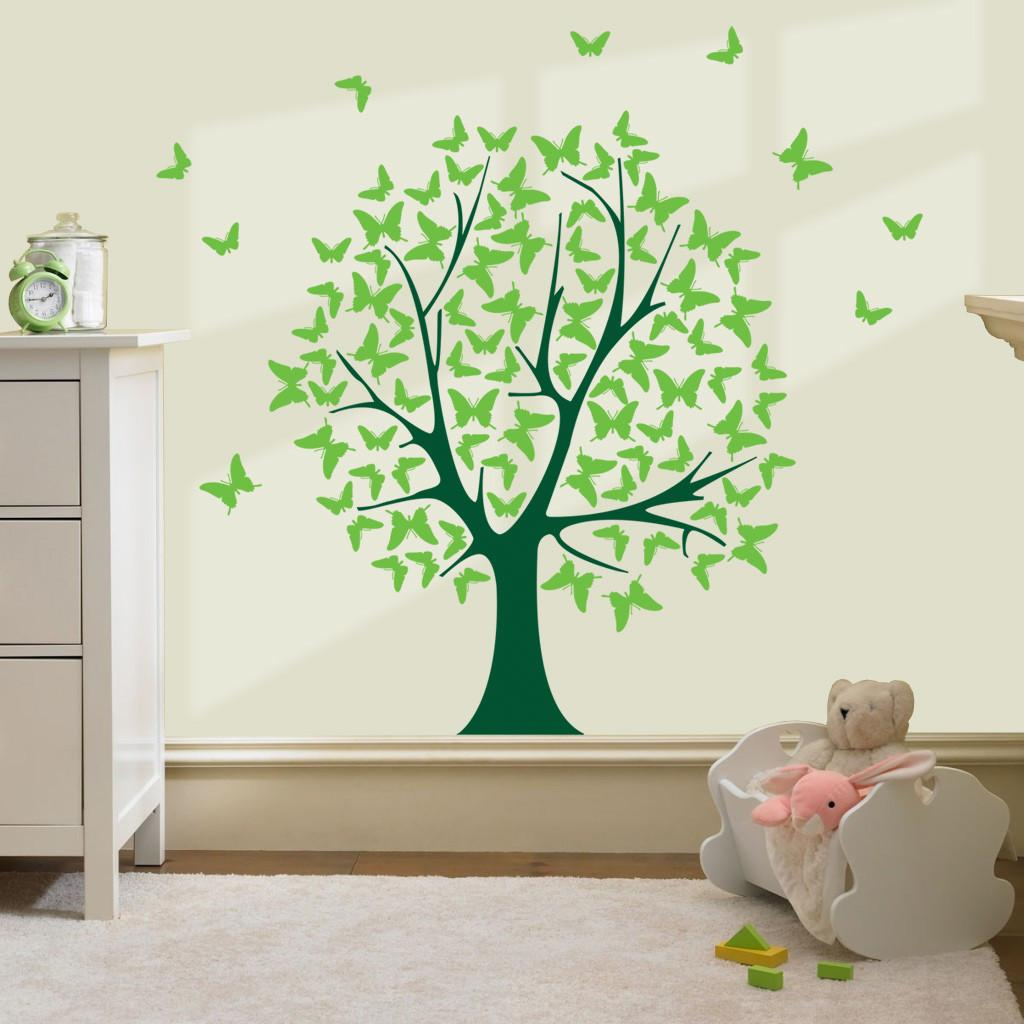 Butterfly Tree Wall Stickers Decals