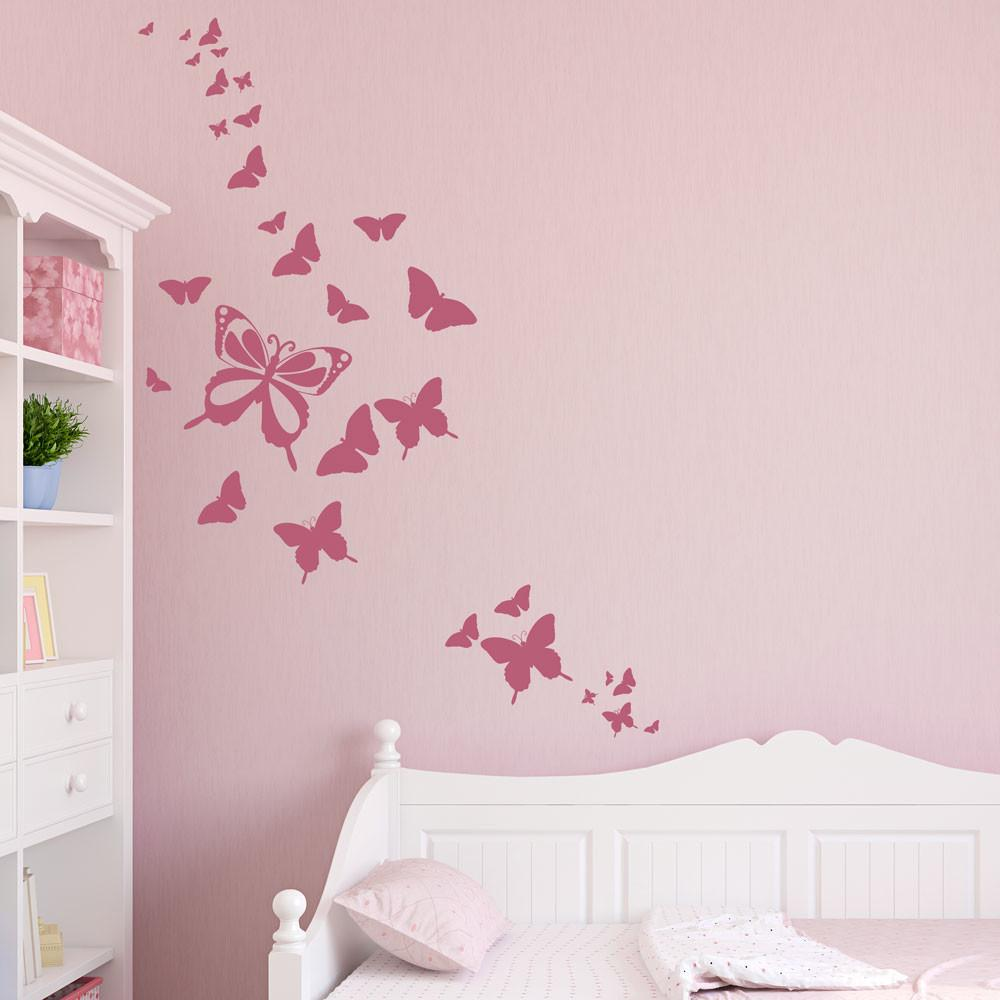 Butterfly Wall Decals 2017 Grasscloth