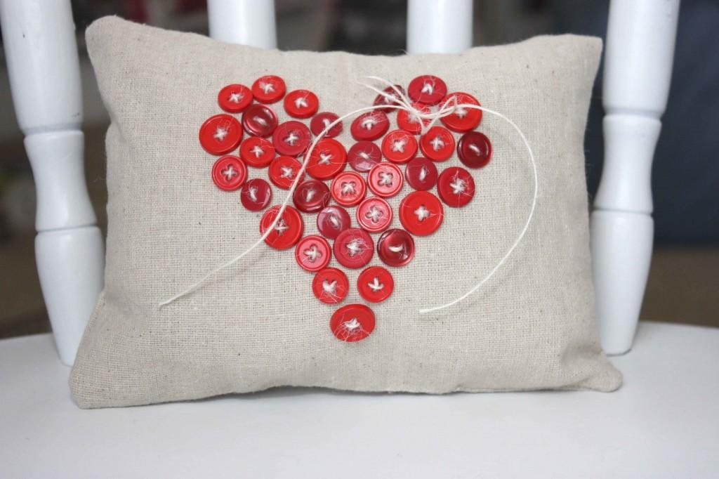 Button Heart Pillow May Arts Wholesale Ribbon Company