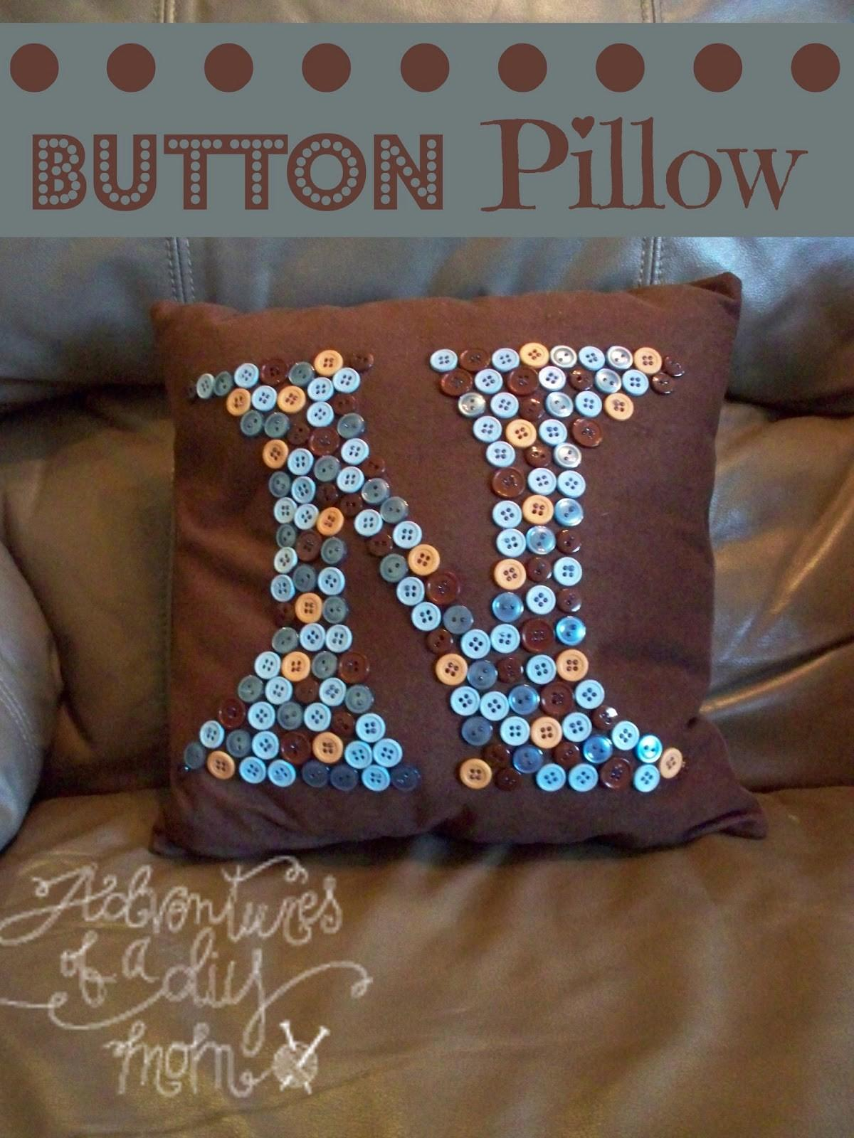 Button Pillow Tutorial Adventures Diy Mom