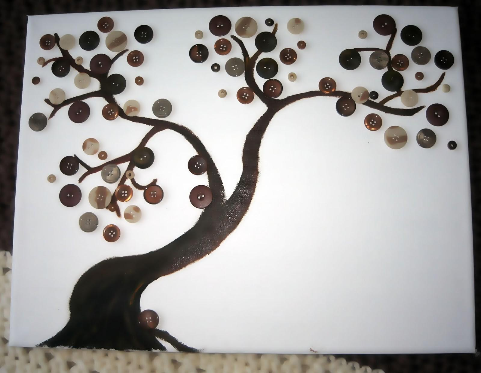 Button Tree Canvas Canvases