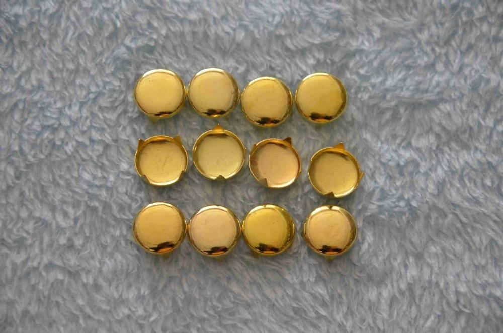 Buy 2014 Fashion 12mm Iron Gold Round Spikes Stud Rock