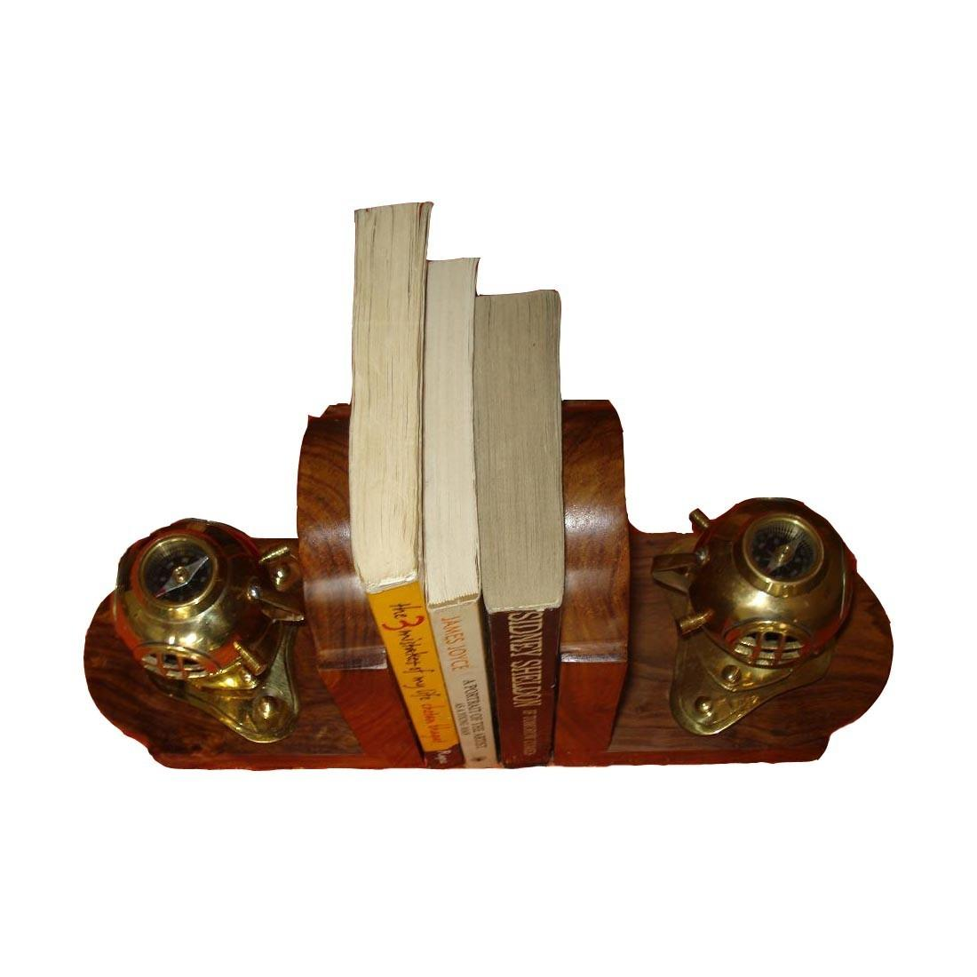 Buy Brass Bookend Decorative Divers Helomet Bookends