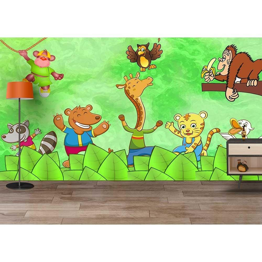 Buy Crazy Funny Jungle Animals Party Cartoon Kids Room