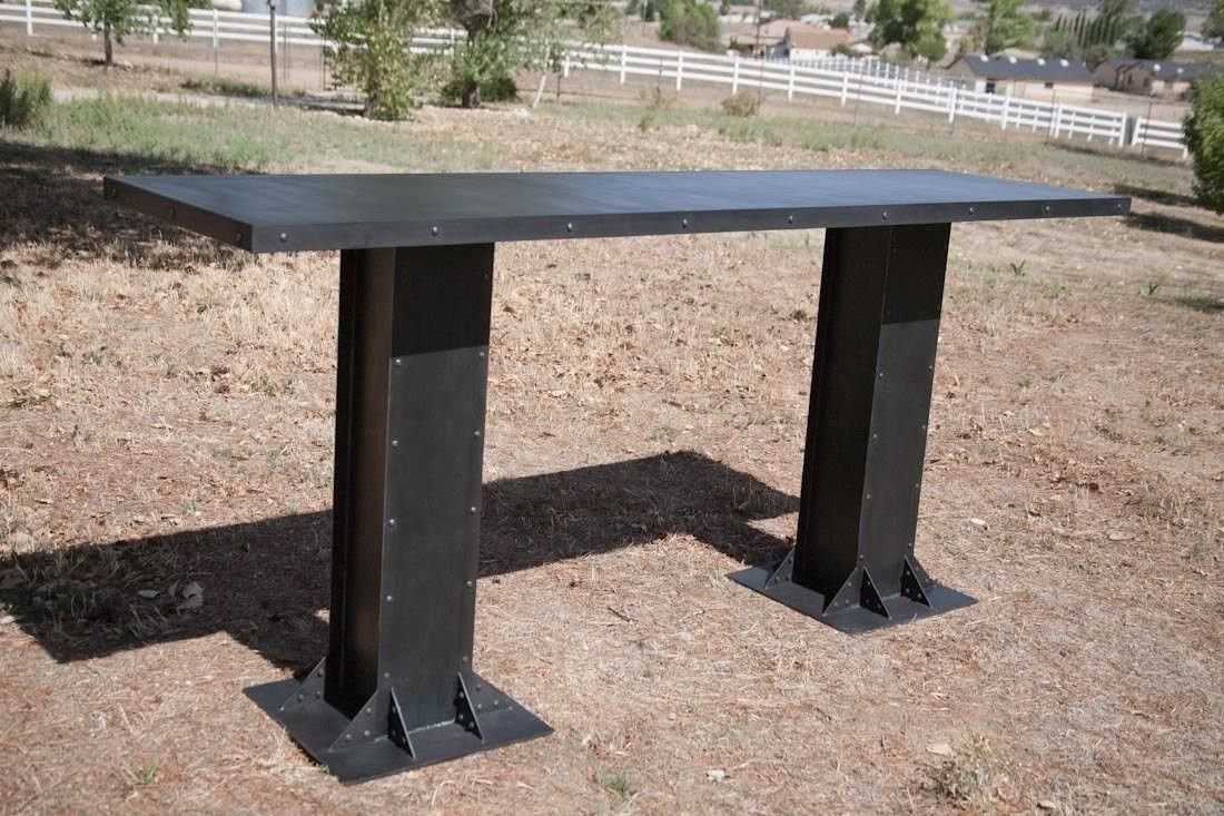 Buy Custom Made Vintage Modern Industrial Table Steel