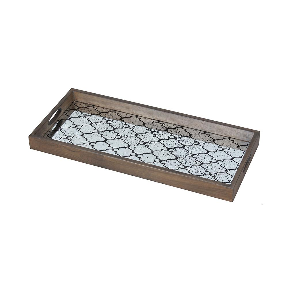 Buy Notre Monde Bronze Gate Rectangular Mirror Tray Amara
