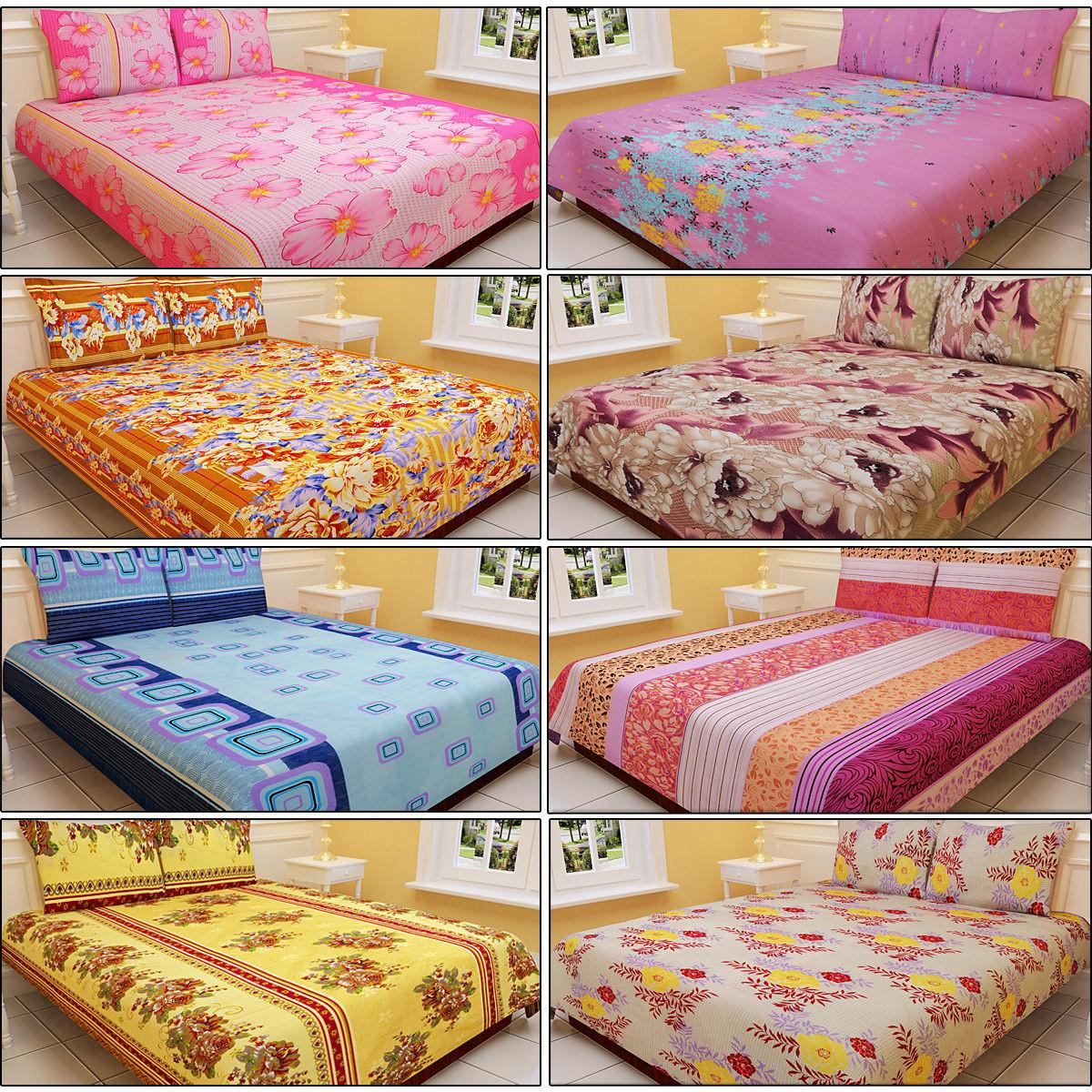 Buy Salona Designer Double Bed Sheets Pillow