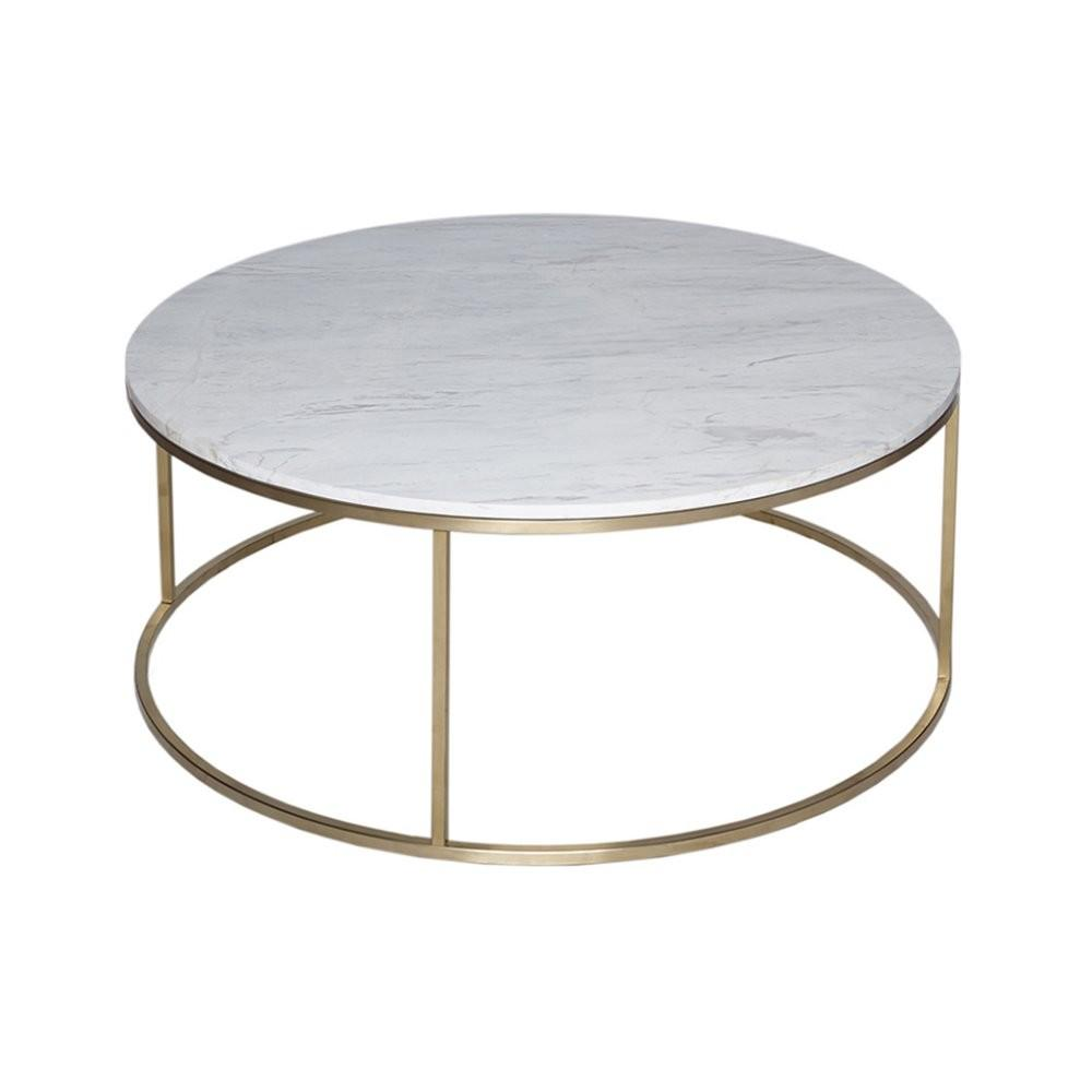 Buy White Marble Gold Metal Coffee Table Fusion