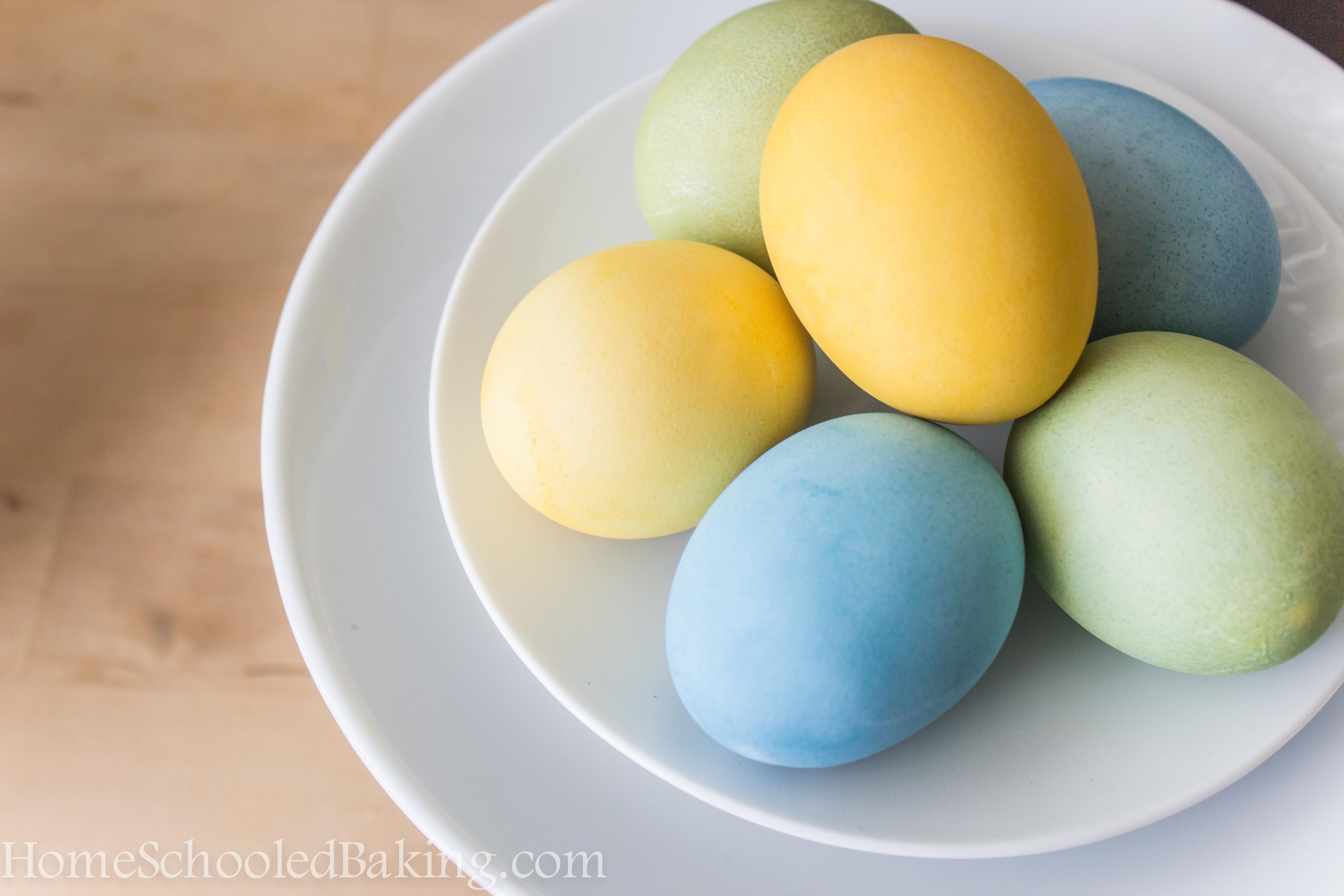 Cabbage Turmeric Easter Eggs Home Schooled Baking