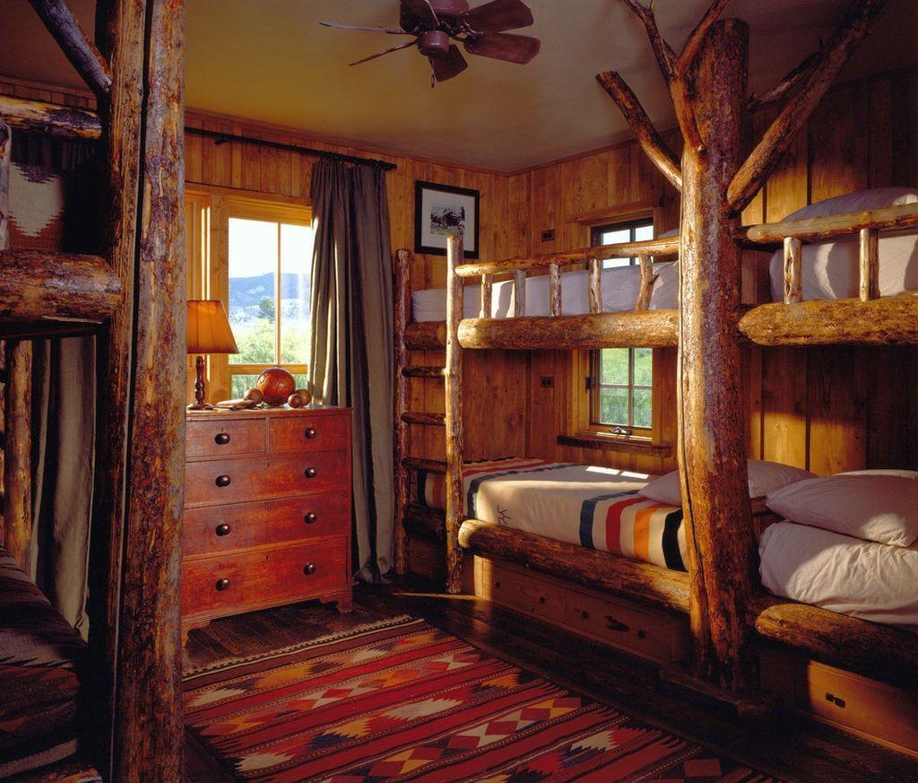 Cabin Bedroom Decorating Ideas Bunk Beds Lodge