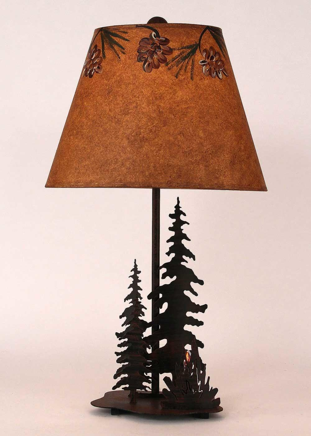 Cabin Decor Table Lamps Western