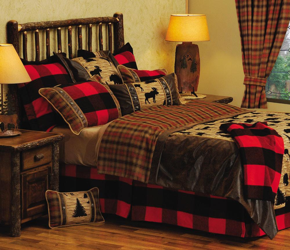 Cabin Style Bedroom Rustic Log Decor
