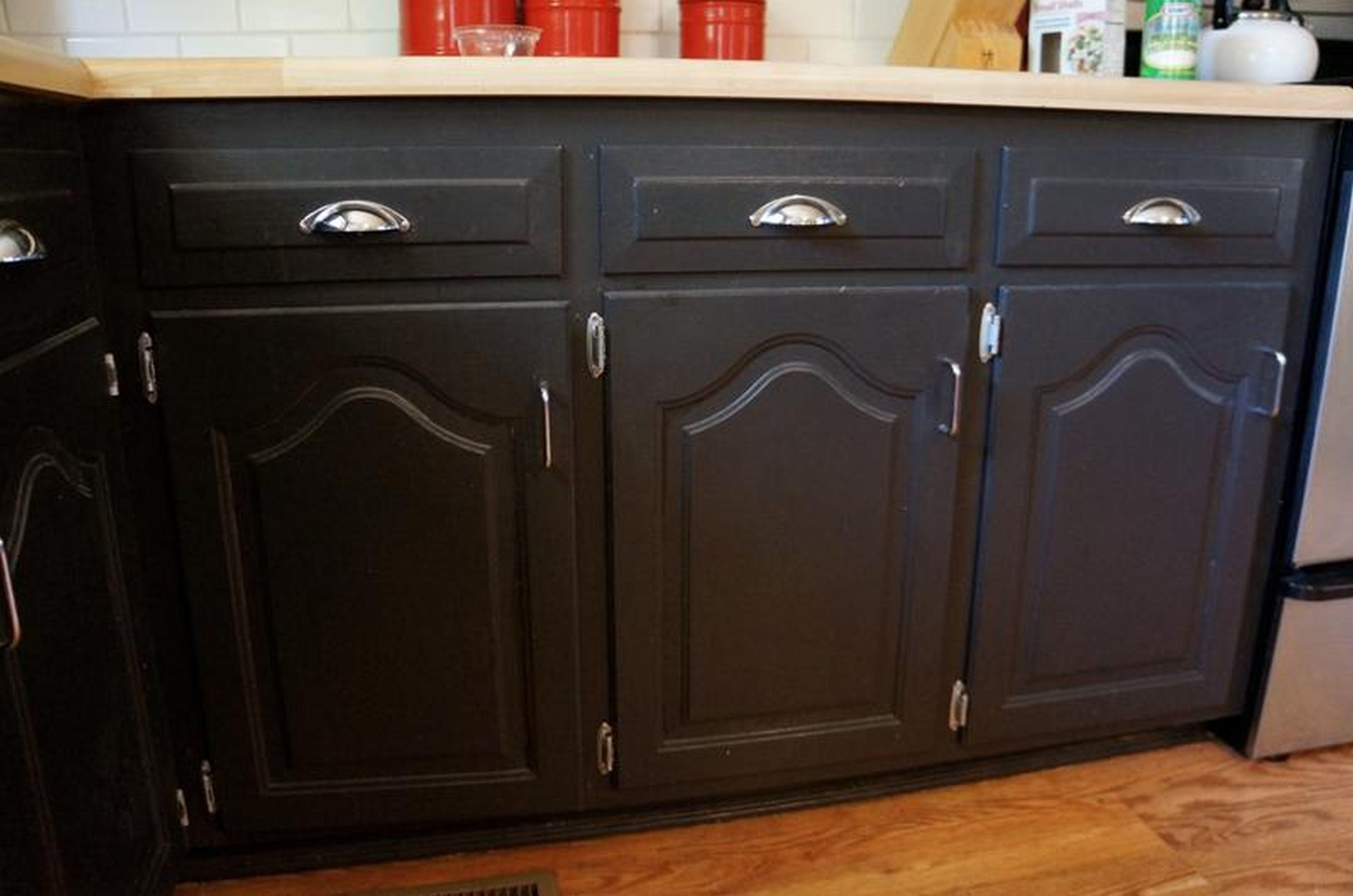 Cabinets Ideas Painting Kitchen Black Distressed Paint
