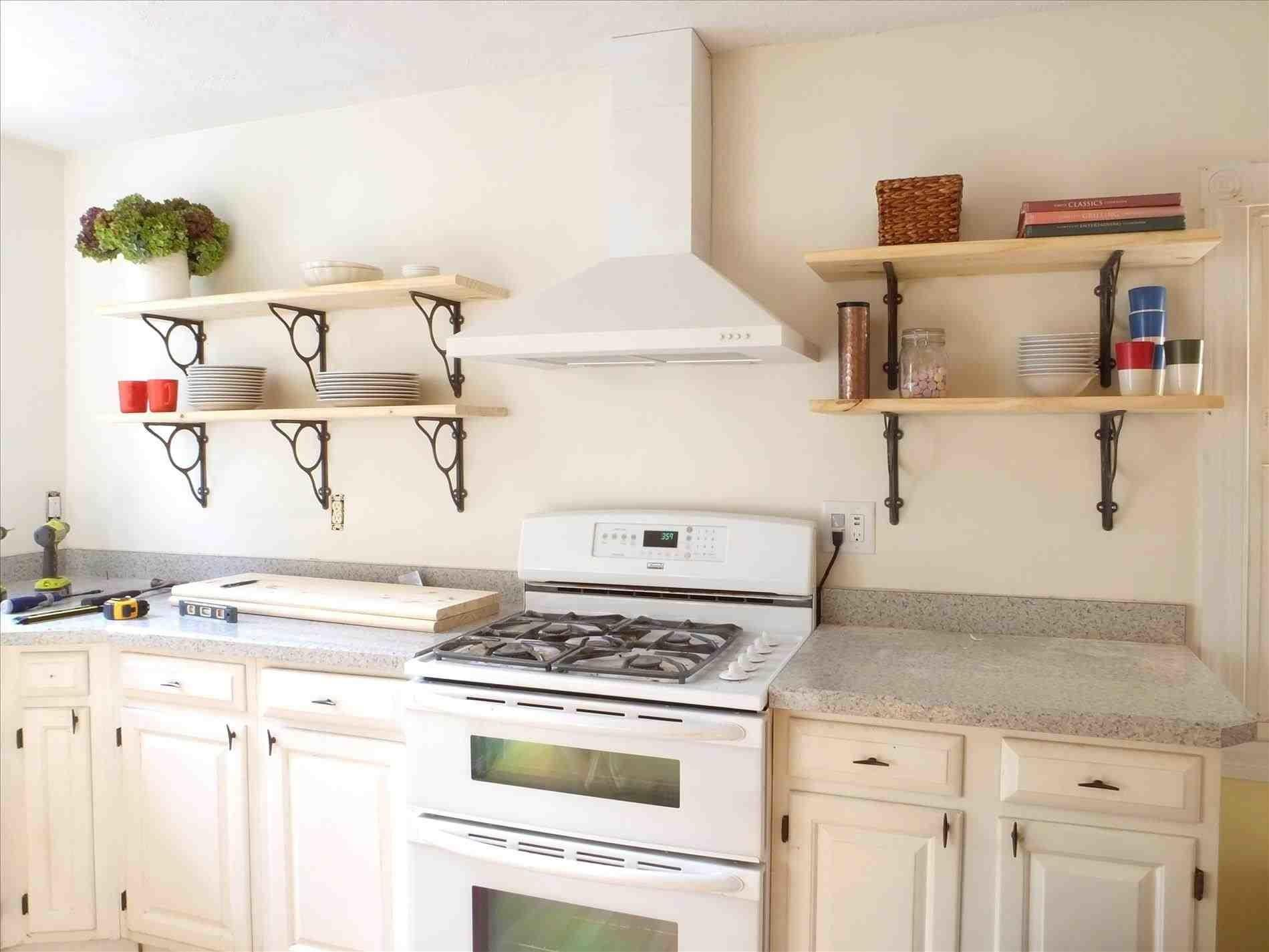 Cabinets Kitchen Open Shelving Ideas Shelves Smooth White