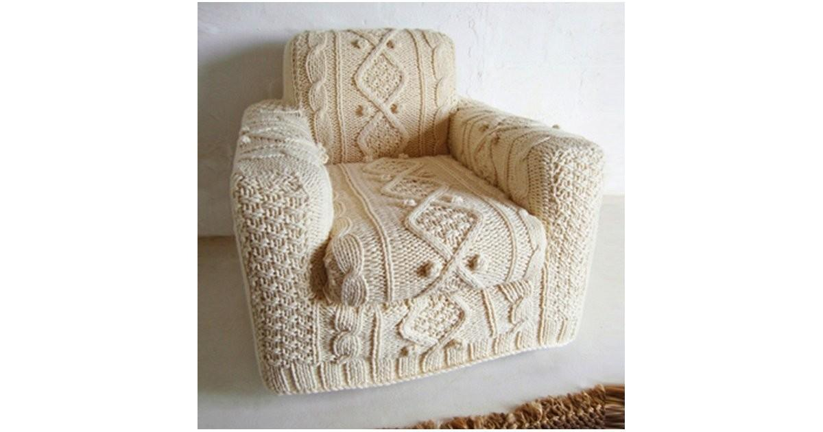 Cable Knit Armchair Slipcover Other Home Decor News
