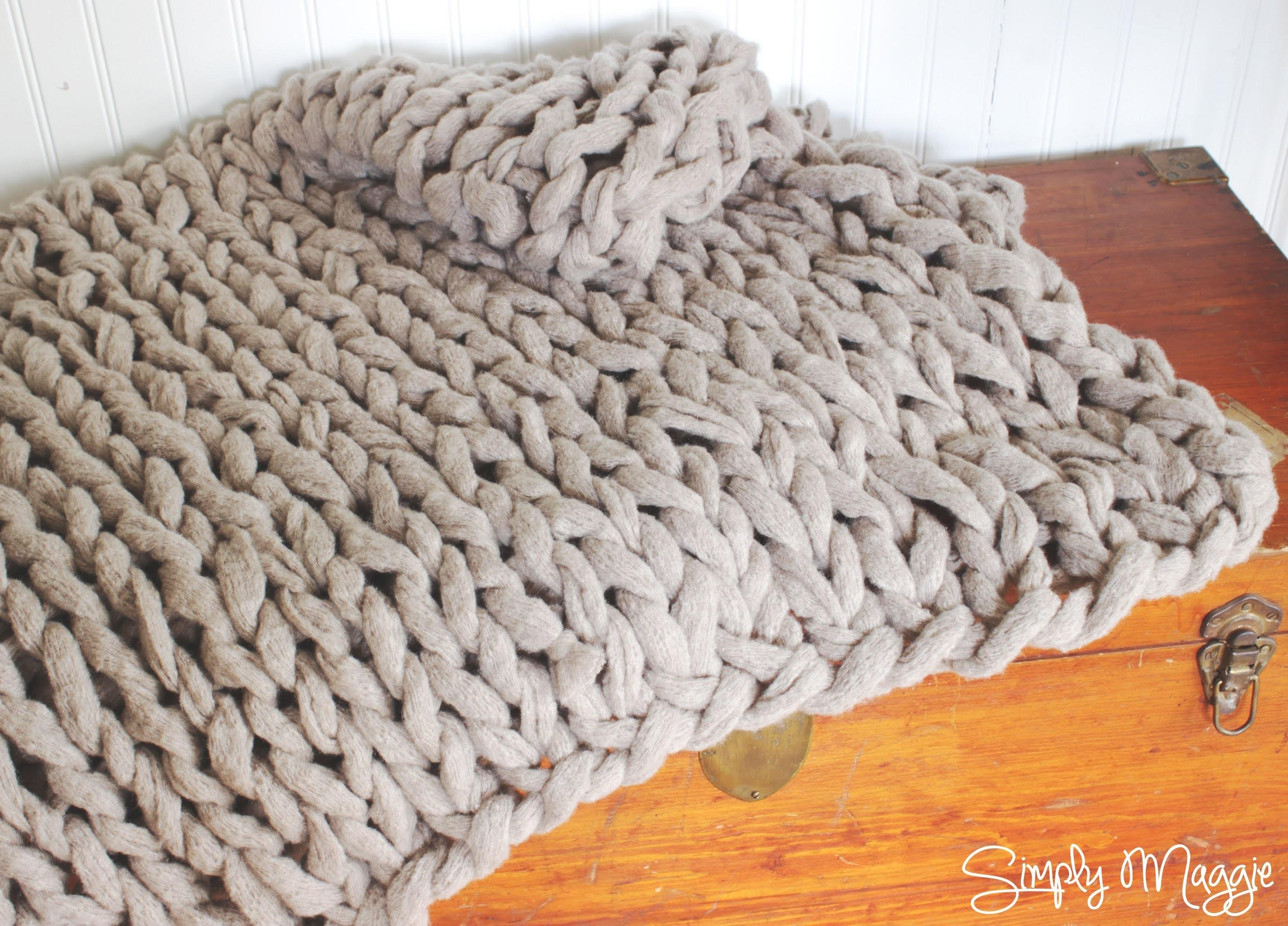 Cable Knit Throw Rug Crochet