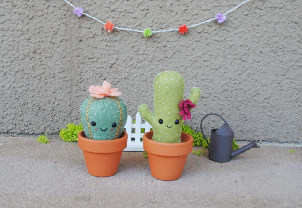 Cactus Plush Pattern Diy Felt Crafts Delilah Iris