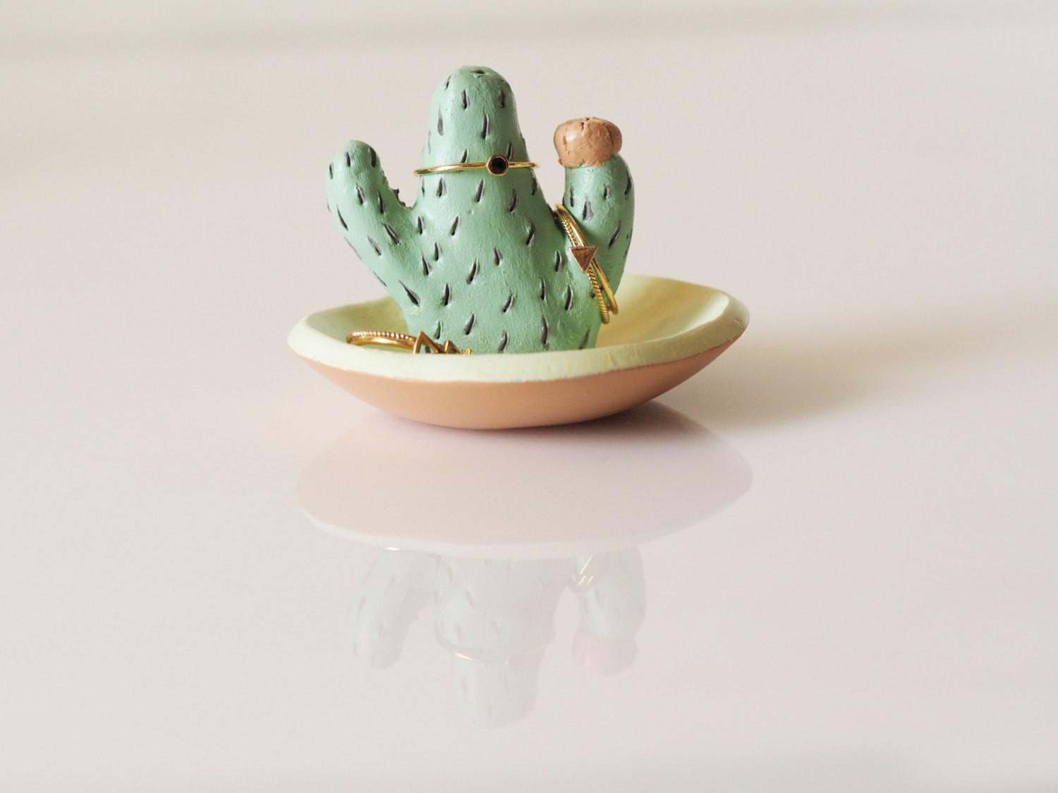 Cactus Ring Holder Jewelry Dish