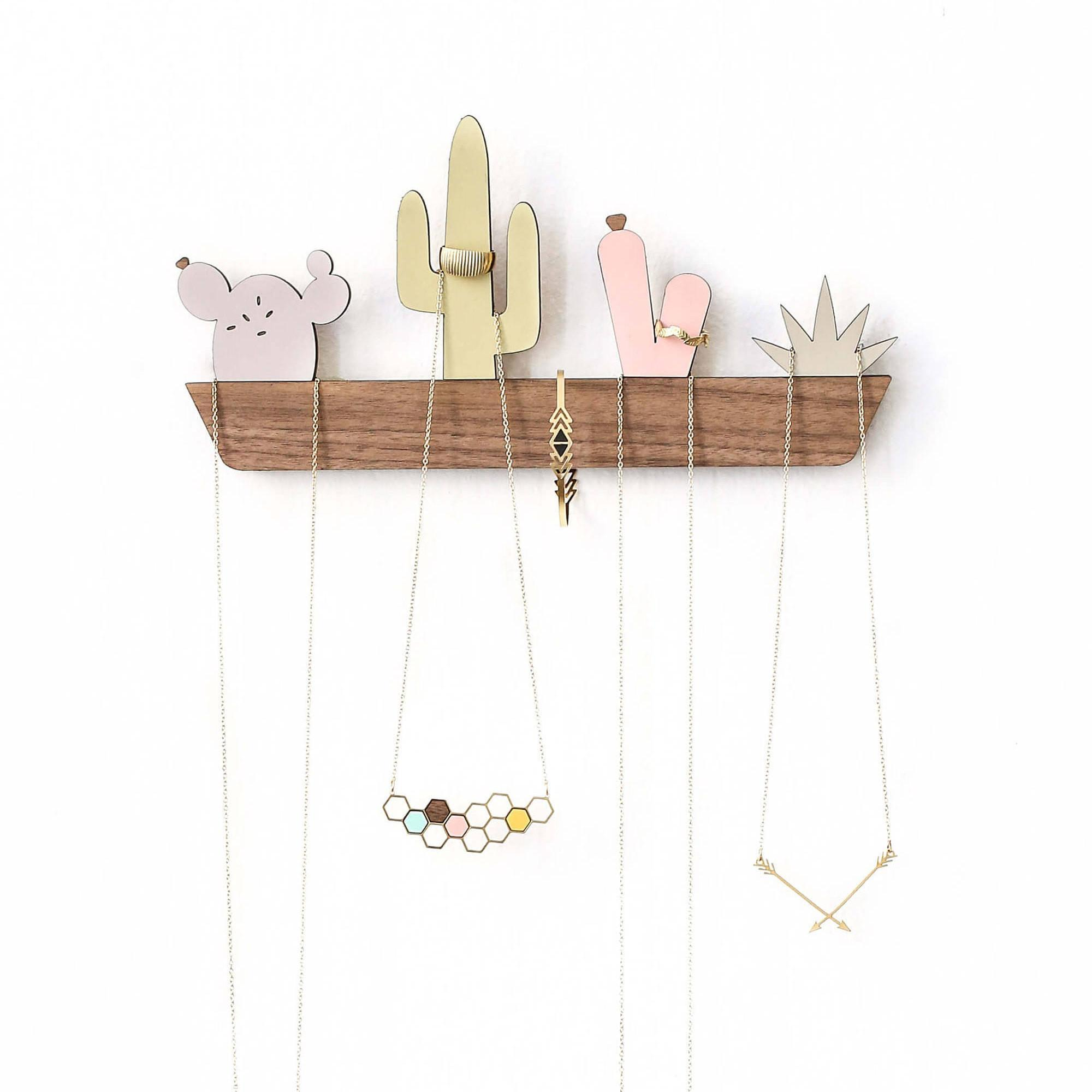 Cactus Window Box Jewelry Display Organizer