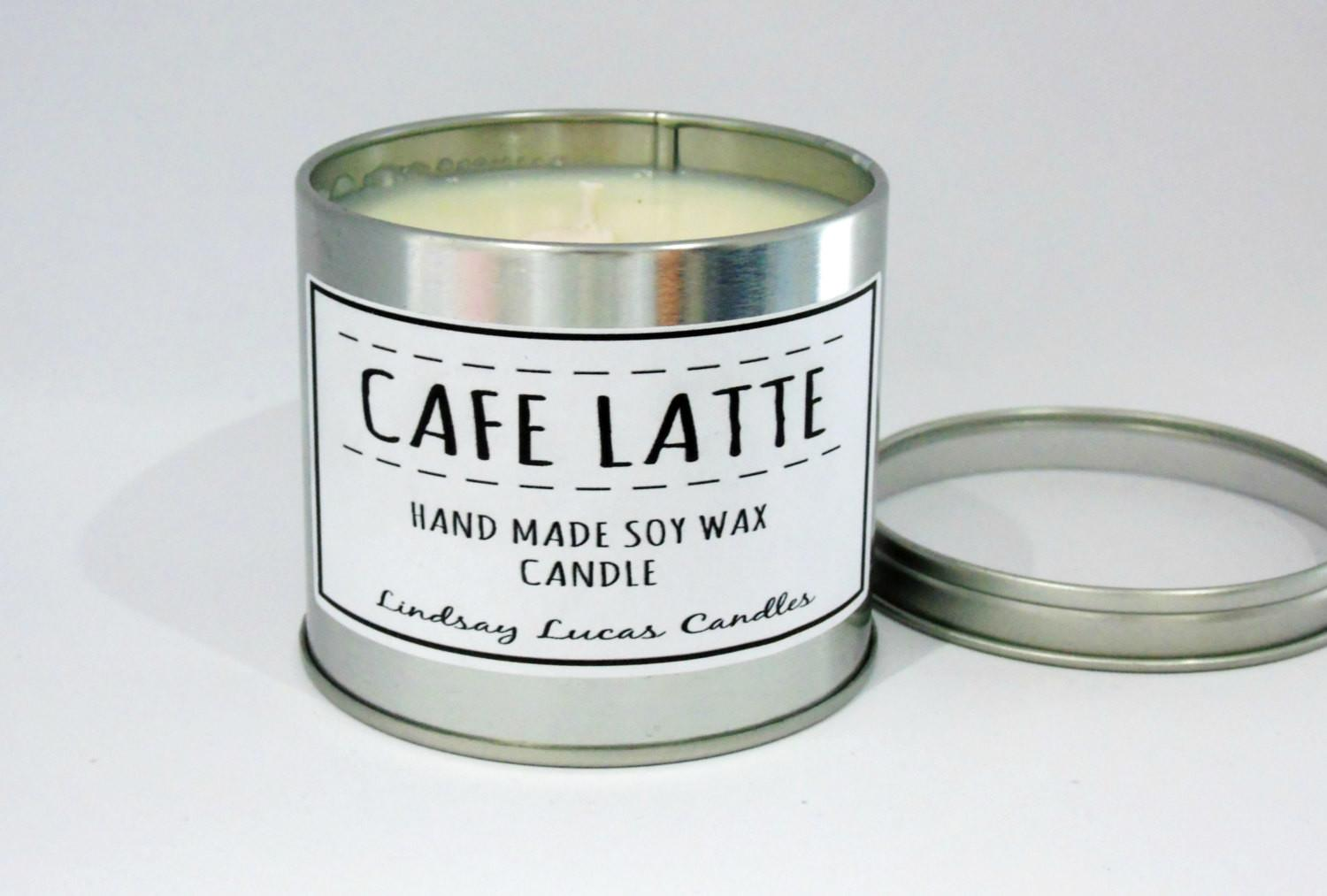 Cafe Latte Candle Coffee Scented Tin