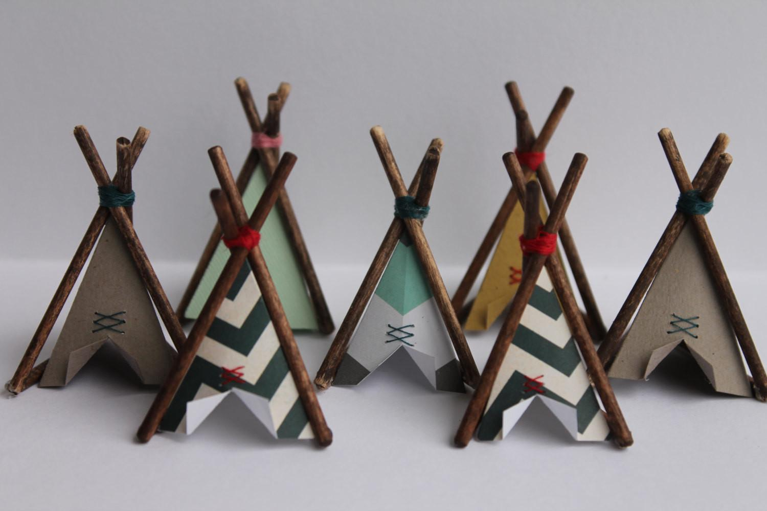 Cake Topper Mini Teepee Home Decor Small Wigwam