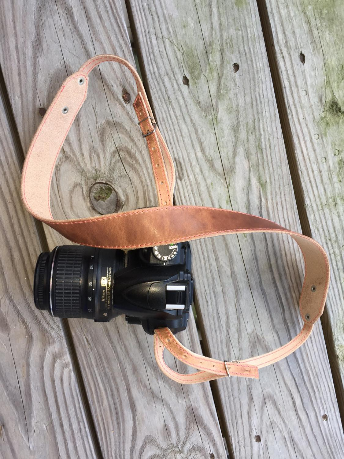 Camera Strap Leather Personalized