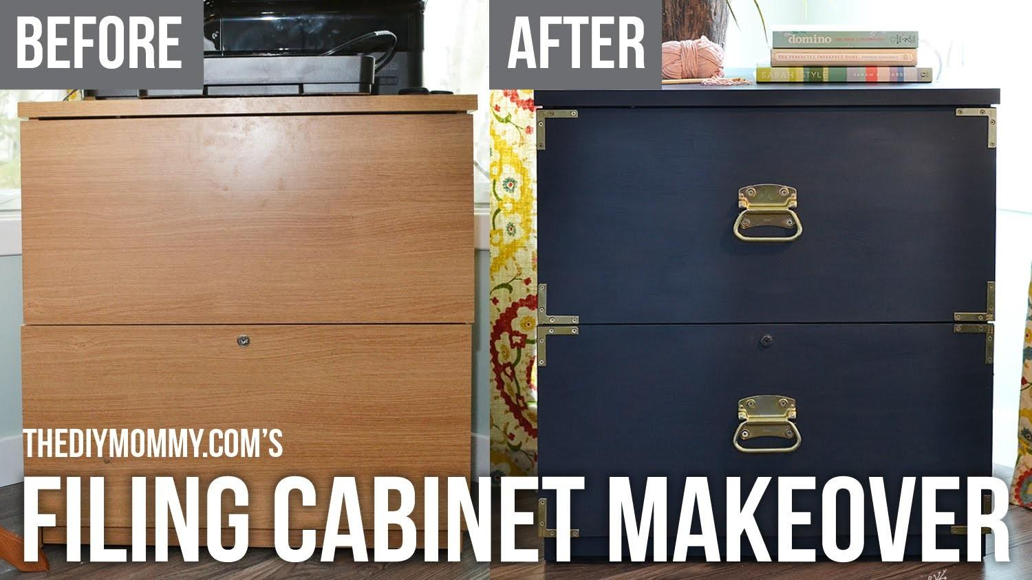 Campaign Dresser Inspired Filing Cabinet Makeover Fat