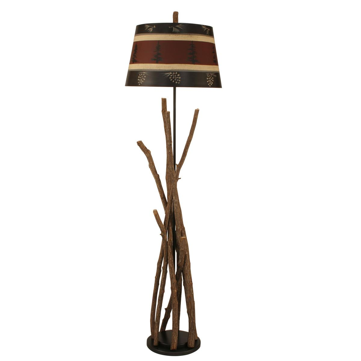 Campfire Table Lamp Tree Pine Cone Shade