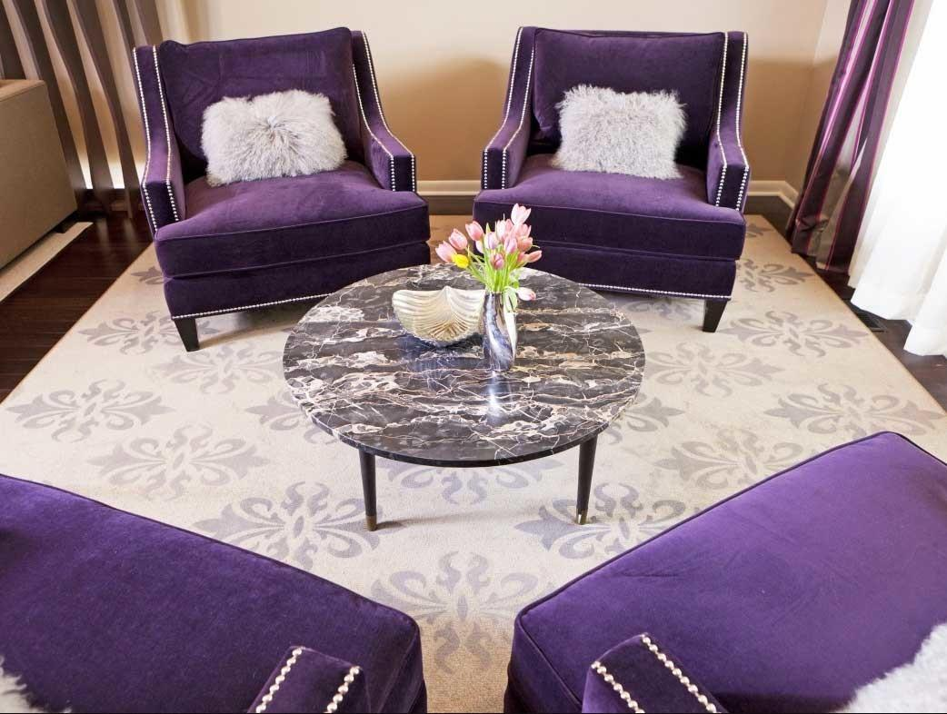 Can Attend Purple Living Room Chairs Minimal