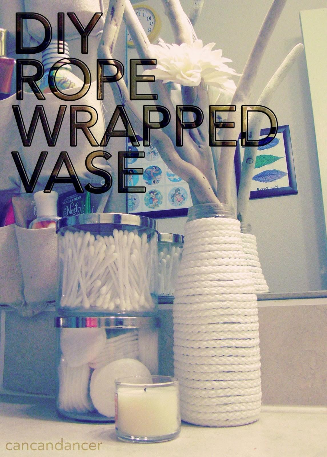 Can Dancer Diy Rope Wrapped Vase